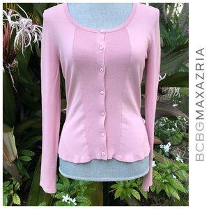 BCBG MaxAzria Pink Cardigan Sweater